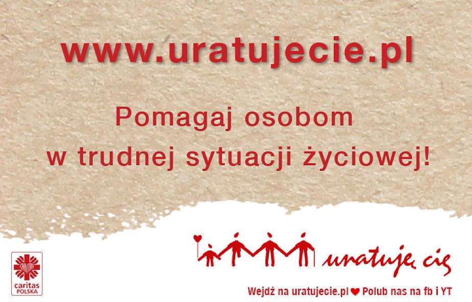 Ruszył serwis zbiórek internetowych Caritas Polska uratujecie.pl